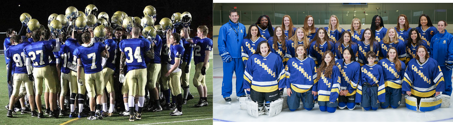 Football and Girl's Hockey